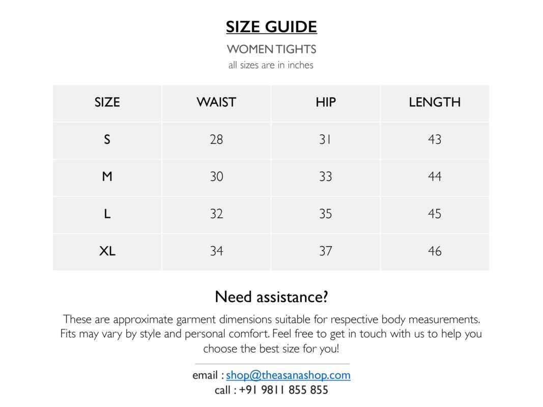 Women Tights Size Chart